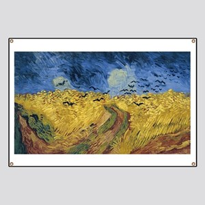 Vincent van Gogh - Wheatfield with Crows Banner