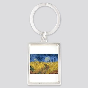 Vincent van Gogh - Wheatfield with Crows Keychains