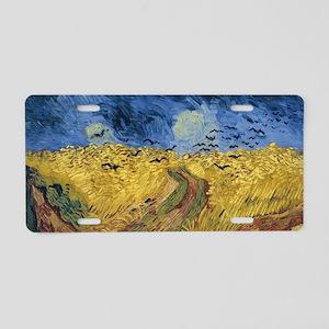 Vincent van Gogh - Wheatfie Aluminum License Plate