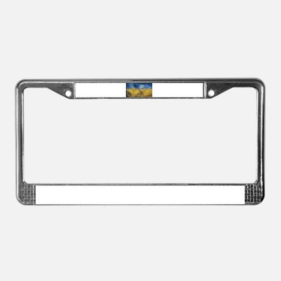 Vincent van Gogh - Wheatfield License Plate Frame
