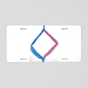 blue pink diamond Aluminum License Plate