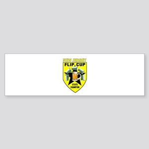 New Jersey Flip Cup State Cha Bumper Sticker