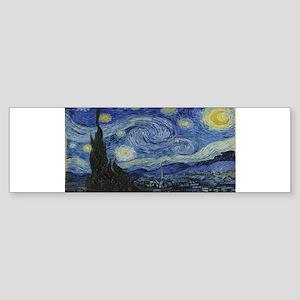 Vincent van Gogh's Starry Night Bumper Sticker