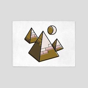 Egypt Pyramids 5'x7'Area Rug