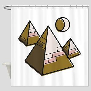 Egypt Pyramids Shower Curtain