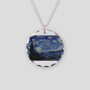 Vincent van Gogh's Starry Ni Necklace Circle Charm