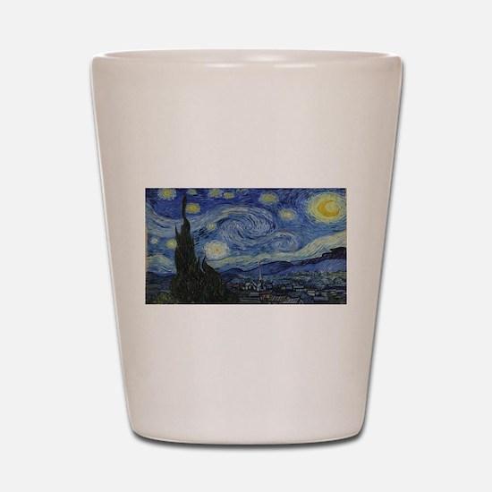 Vincent van Gogh's Starry Night Shot Glass