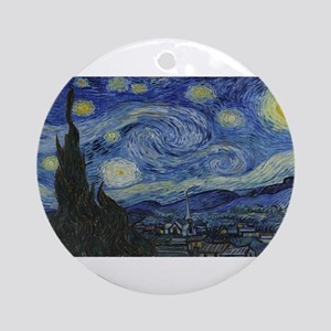 Vincent van Gogh's Starry Night Round Ornament
