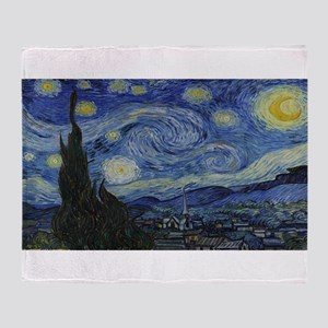 Vincent van Gogh's Starry Night Throw Blanket