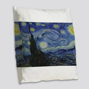 Vincent van Gogh's Starry Nigh Burlap Throw Pillow