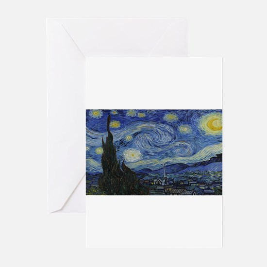 Vincent van Gogh's Starry Night Greeting Cards