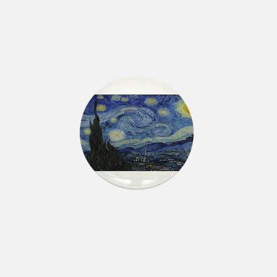 Vincent van Gogh's Starry Night Mini Button