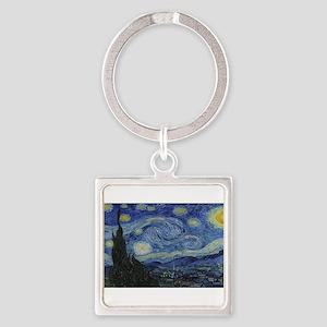 Vincent van Gogh's Starry Night Keychains