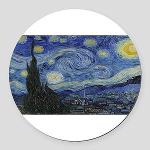 Vincent van Gogh's Starry Night Round Car Magnet
