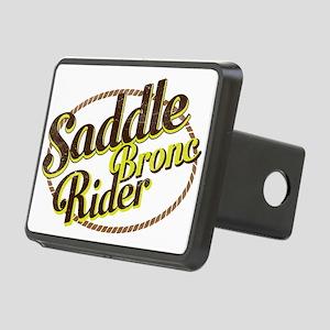 Saddle Bronc Rider Rectangular Hitch Cover