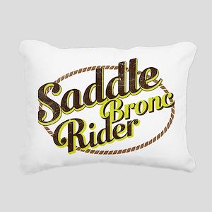 Saddle Bronc Rider Rectangular Canvas Pillow