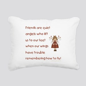 FRIENDS ARE... Rectangular Canvas Pillow