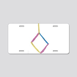 blue, gold, pink diamon Aluminum License Plate