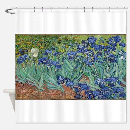 Vincent van Gogh's Irises Shower Curtain