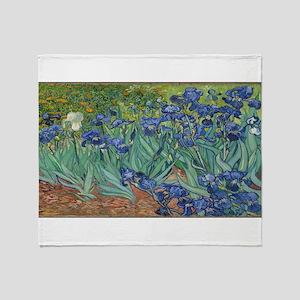 Vincent van Gogh's Irises Throw Blanket