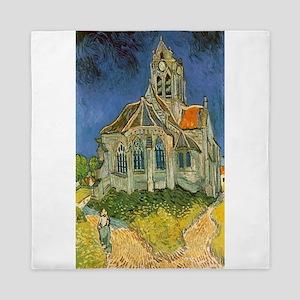 Vincent van Gogh's L'eglise d'Auvers s Queen Duvet