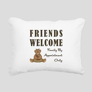 FRIENDS WELCOME Rectangular Canvas Pillow
