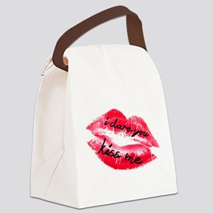 Kiss Me I Dare You Canvas Lunch Bag