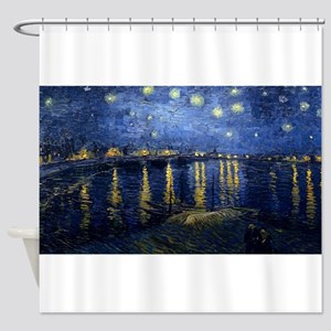 Vincent van Gogh's Starry Night Ove Shower Curtain