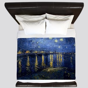 Vincent van Gogh's Starry Night Over th King Duvet