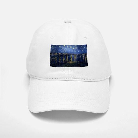 Vincent van Gogh's Starry Night Over the Rhone Baseball Baseball Cap