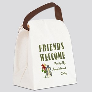 FRIENDS WELCOME Canvas Lunch Bag