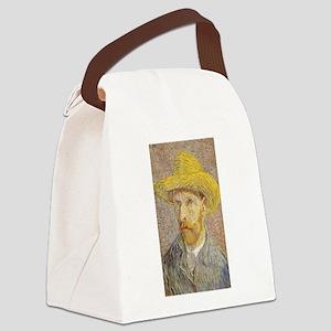 Vincent van Gogh's Self-Portrait Canvas Lunch Bag