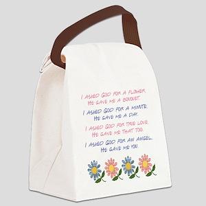 I ASKED GOD... Canvas Lunch Bag