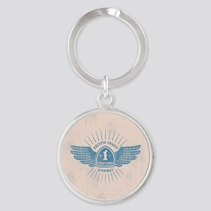 PCH Wings Round Keychain