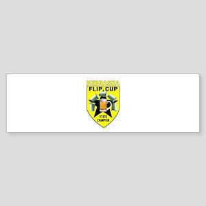 Nebraska Flip Cup State Champ Bumper Sticker