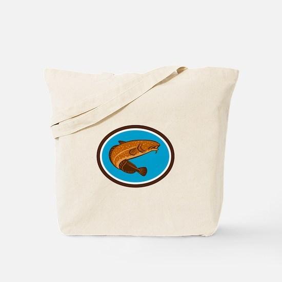 Burbot Fish Oval Retro Tote Bag