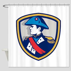 Napoleon Bonaparte Bicorn Hat Crest Retro Shower C