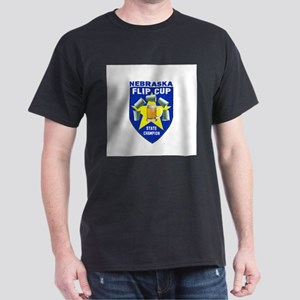Nebraska Flip Cup State Champ Dark T-Shirt