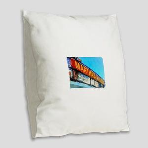 Never Been Gone Burlap Throw Pillow