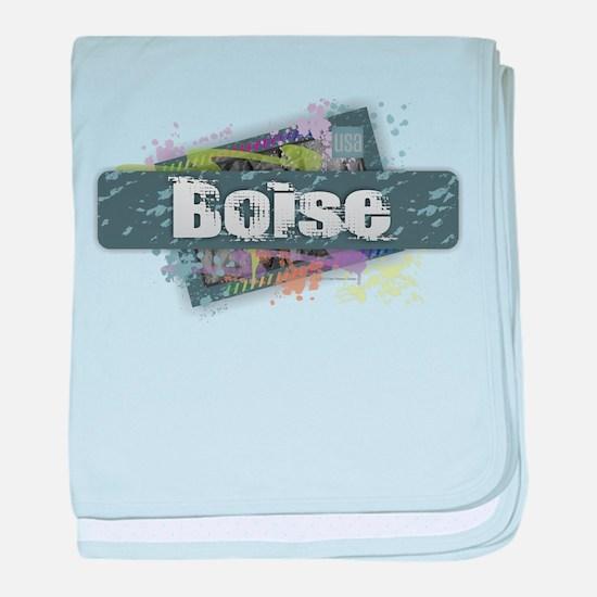 Boise Design baby blanket