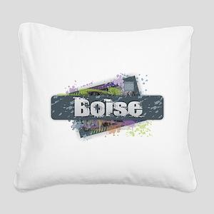 Boise Design Square Canvas Pillow