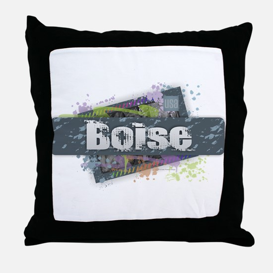 Boise Design Throw Pillow