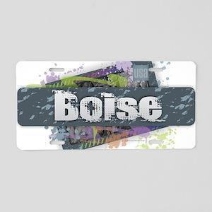Boise Design Aluminum License Plate