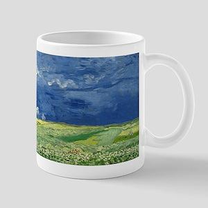 Vincent van Gogh's Wheatfield Under Thundercl Mugs