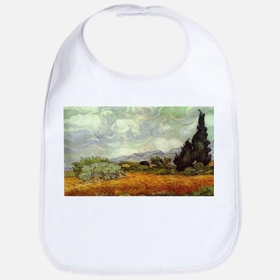 Vincent van Gogh's Wheat Field with Cypresses Bib