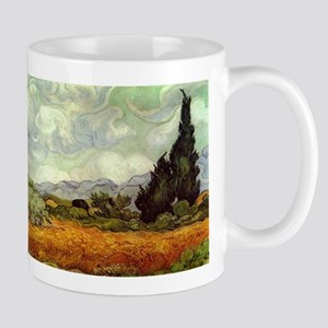 Vincent van Gogh's Wheat Field with Cypresses Mugs