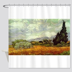 Vincent van Gogh's Wheat Field with Shower Curtain