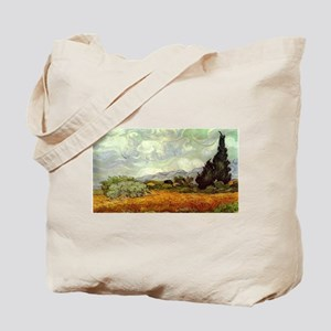 Vincent van Gogh's Wheat Field with Cypre Tote Bag