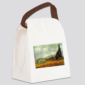 Vincent van Gogh's Wheat Field wi Canvas Lunch Bag