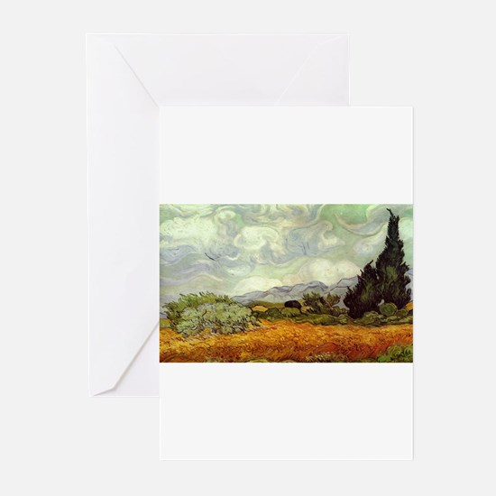 Vincent van Gogh's Wheat Field with Greeting Cards